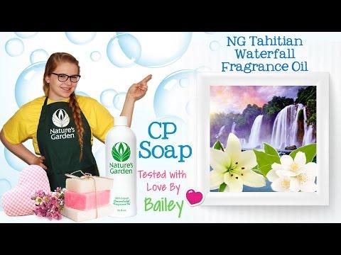 Soap Testing NG Tahitian Waterfall Fragrance Oil- Natures Garden