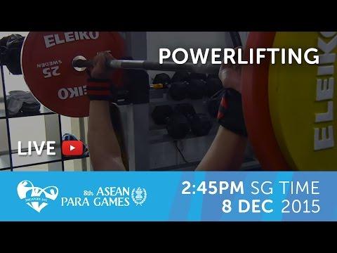 Powerlifting Men's (Day 5) | 8th ASEAN Para Games 2015