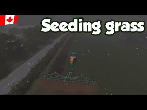 Seeding grass and more - Ep. 54 - Sandy Bay - FS17
