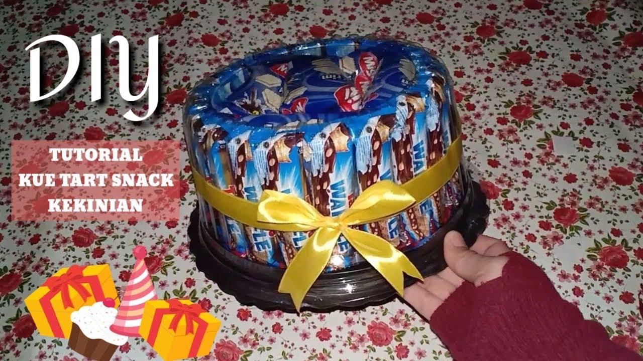 Cara Membuat Buket Snack Gampang Kue Tart Ulang Tahun Untuk Kado Hadiah Birthday Gift Tutorial Youtube