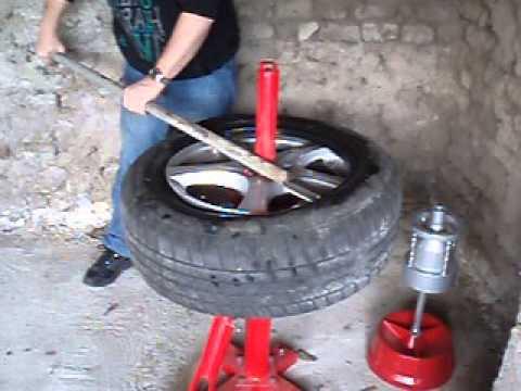Demonte Pneu Manuel Manual Tire Changer Video 1 Youtube