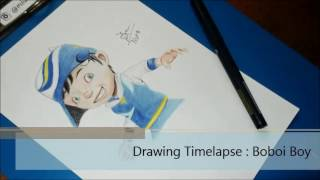 Drawing Timelapse : Boboi Boy