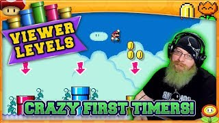CRAZY FIRST TIMERS! [4] Super Mario Maker 2 Super Viewer Levels with Oshikorosu!