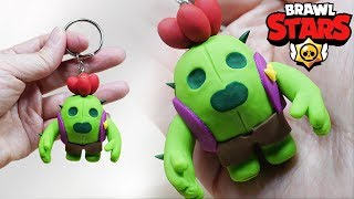 Making SPIKE Keychain from Brawl Stars in Polymer Clay / Polymer Clay Tutorial