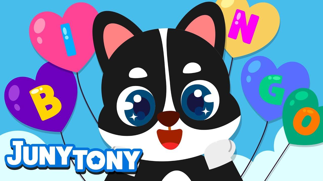 B-I-N-G-O | Nursery Rhymes for Kids | Kindergarten Songs | Kids Pop | JunyTony