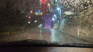 Yağmurlu Havada Araba Kullanıyorum ASMR - Ankara Night Drive