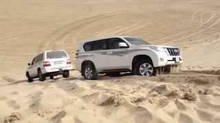 تطعيس في سيلين قطر، تغريس برادو و سحبها من سيارة لاند كروزر
