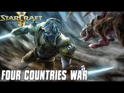 Four Countries War - Protoss Blades - Starcraft 2 Mod