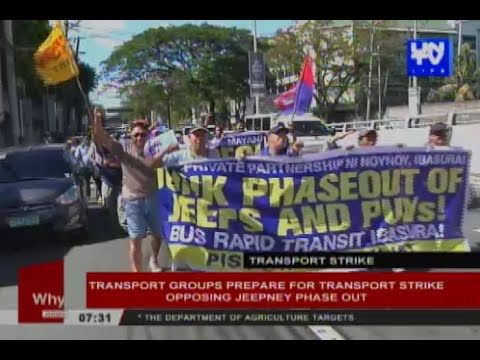 Transport groups prepare for transport strike opposing jeepney phase out