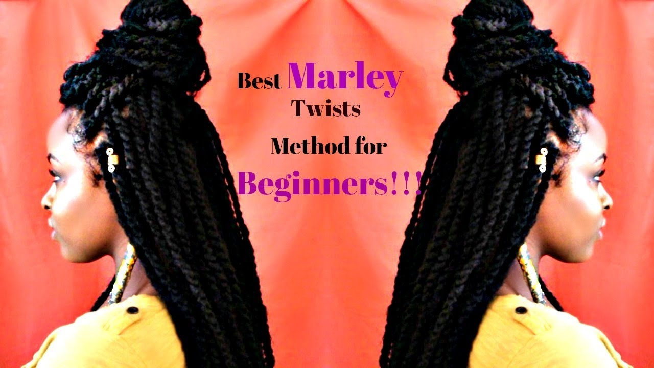 easy marley twists tutorial |protective style for natural hair| jamaican twist braid hair