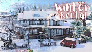 Зимний дом для аренды│Строительство│Winter rental│SpeedBuild│NO CC [The Sims 4 Snowy escape]