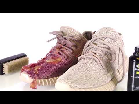 Crep protect cure How to clean Adidas Yeezy 350 Boost vs RED WINE
