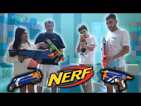 CRAZY NERF WAR VS MY FAMILY!! | FaZe Rug