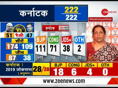 Watch: Nirmala Sitharaman speaks to Zee News editor Sudhir Chaudhary post BJP victory in Karnataka