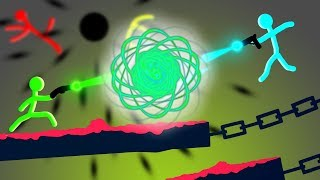The GREAT MYSTERY!?  (Stick Fight Multiplayer Gameplay & Funny Moments & Black Holes)
