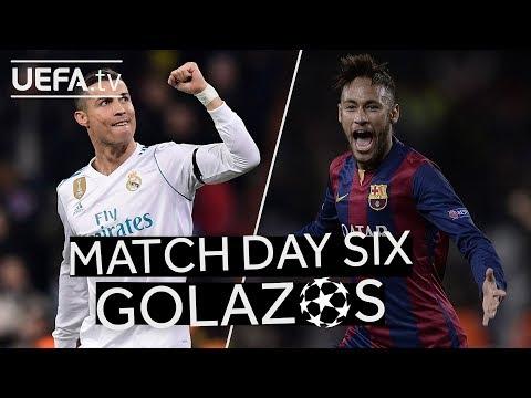 RONALDO, NEYMAR: GREAT #UCL Matchday Six GOALS!!