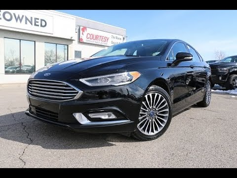 2017 Ford Fusion Se Absolute Black Courtesy Chrysler