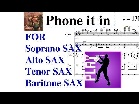 Fortnite Emote [Phone It In] Music Sheet For SAXOPHONES!!! Fortnite New Emote Phone It