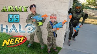 Nerf War: Army vs Halo