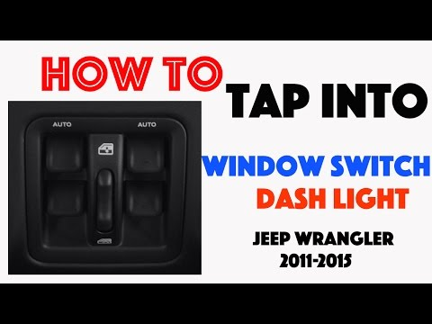 How To Tap Into The Dash Light Circuit Jeep Wrangler 2011 2015