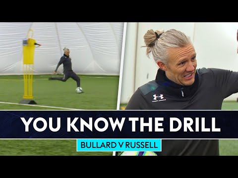 Bullard v England's striker coach in finishing challenge!   You Know The Drill