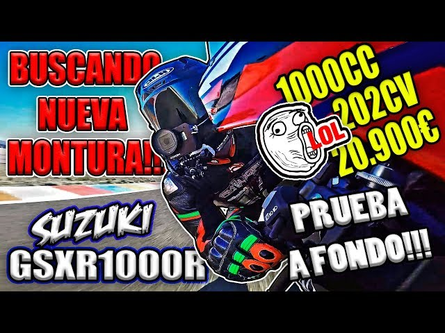 PROBANDO SUPERBIKE GSXR1000R !!! 👊✊💨💨 PRUEBA A FONDO BUSCANDO NUEVA MOTO DEPORTIVA !!!