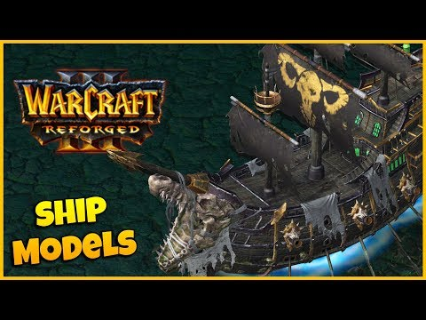 ALL Ship Models - Side by Side Comparison | Warcraft 3 Reforged