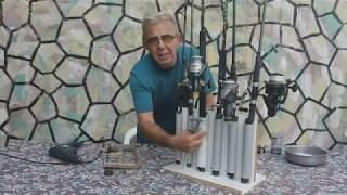 How to make a wooden fishing rod stand - Κατασκευή σταντ για καλάμια