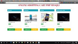 Create simple eCommerce Shopping Cart using PHP and MySql in Hindi [with Source Code]