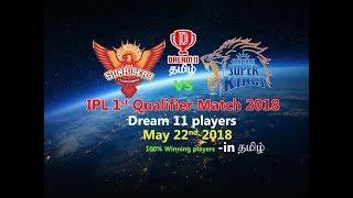 SRH vs CSK Qualifier 1 preview