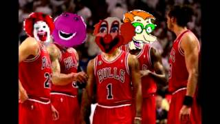 drew pickles and the barney bunch go to a chicago bulls game