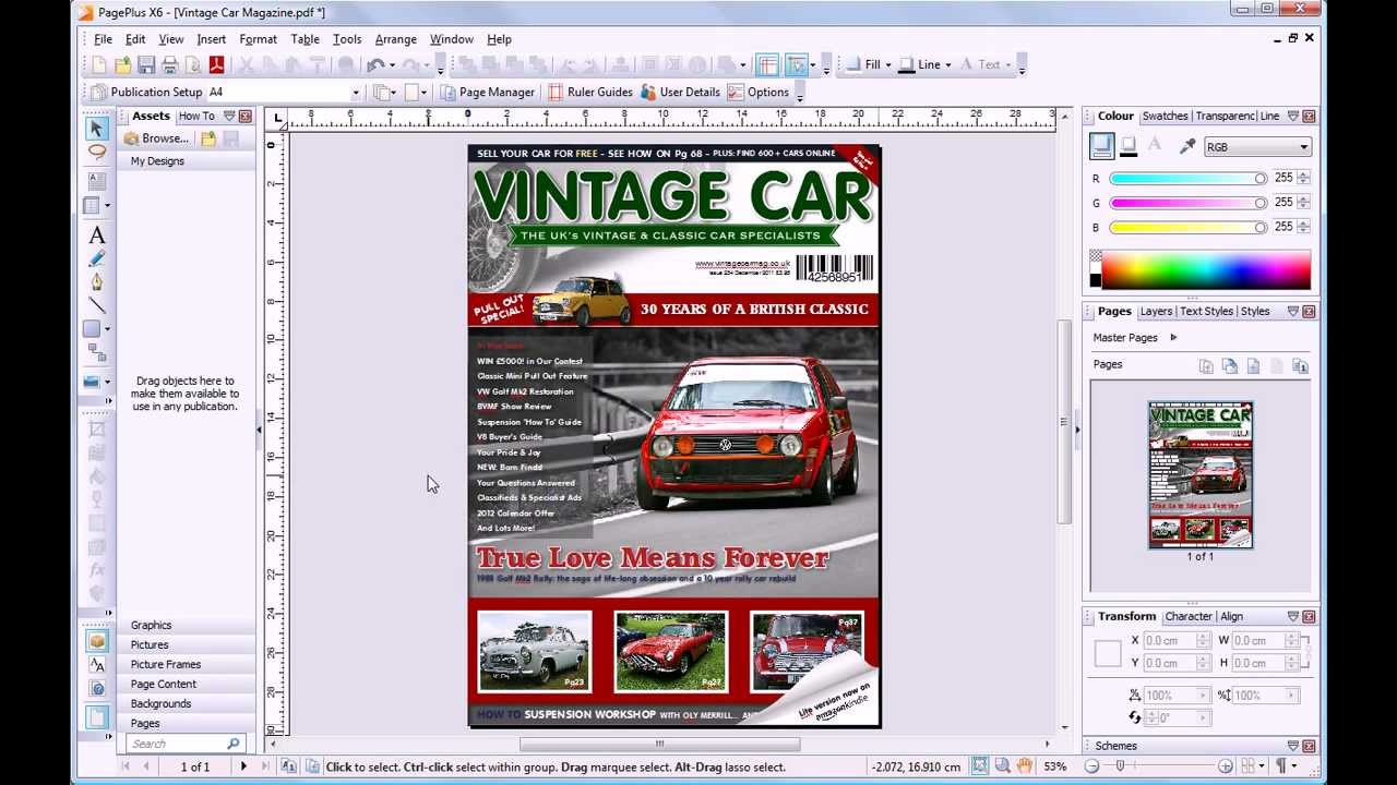 Pageplus X6  Editing A Pdf (minivid)