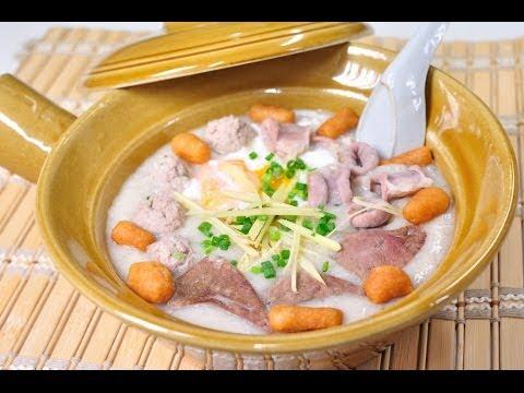 Thai Food - Rice Porridge with Pork  (Joke Moo Song Krueng)