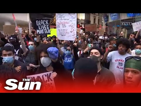 LIVE: Protesters Gather In New York's Times Square