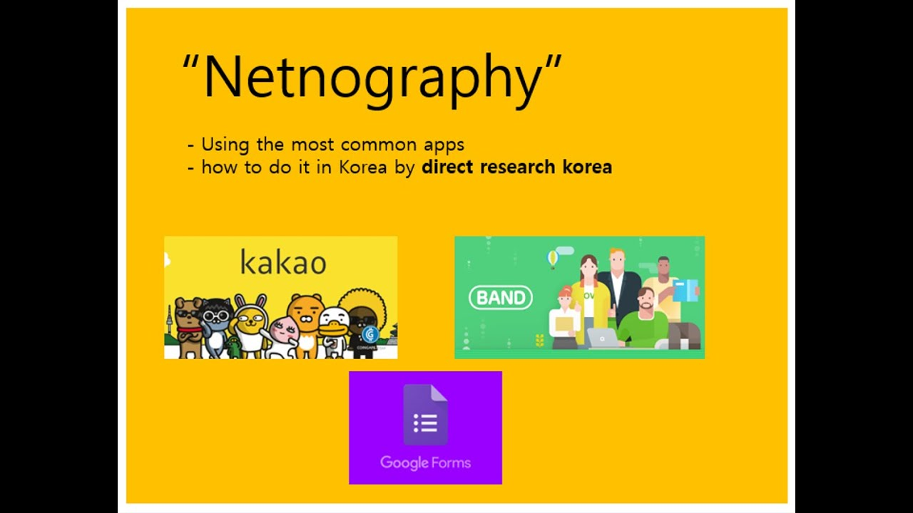 [Netnography]  How to do it in Korea?
