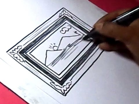 How To Draw Photo Frame Drawing For Kids Youtube