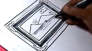 How to Draw Photo Frame Drawing for Kids