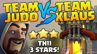 TEAM JUDO vs TEAM KLAUS - TH11 3 Star LAVALOON ATTACKS in Clash of Clans - YouTuber War [2018]