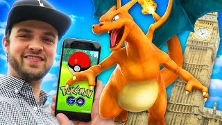 Pokemon GO in London! - NEW POKEMON + EPIC GYM BATTLES!