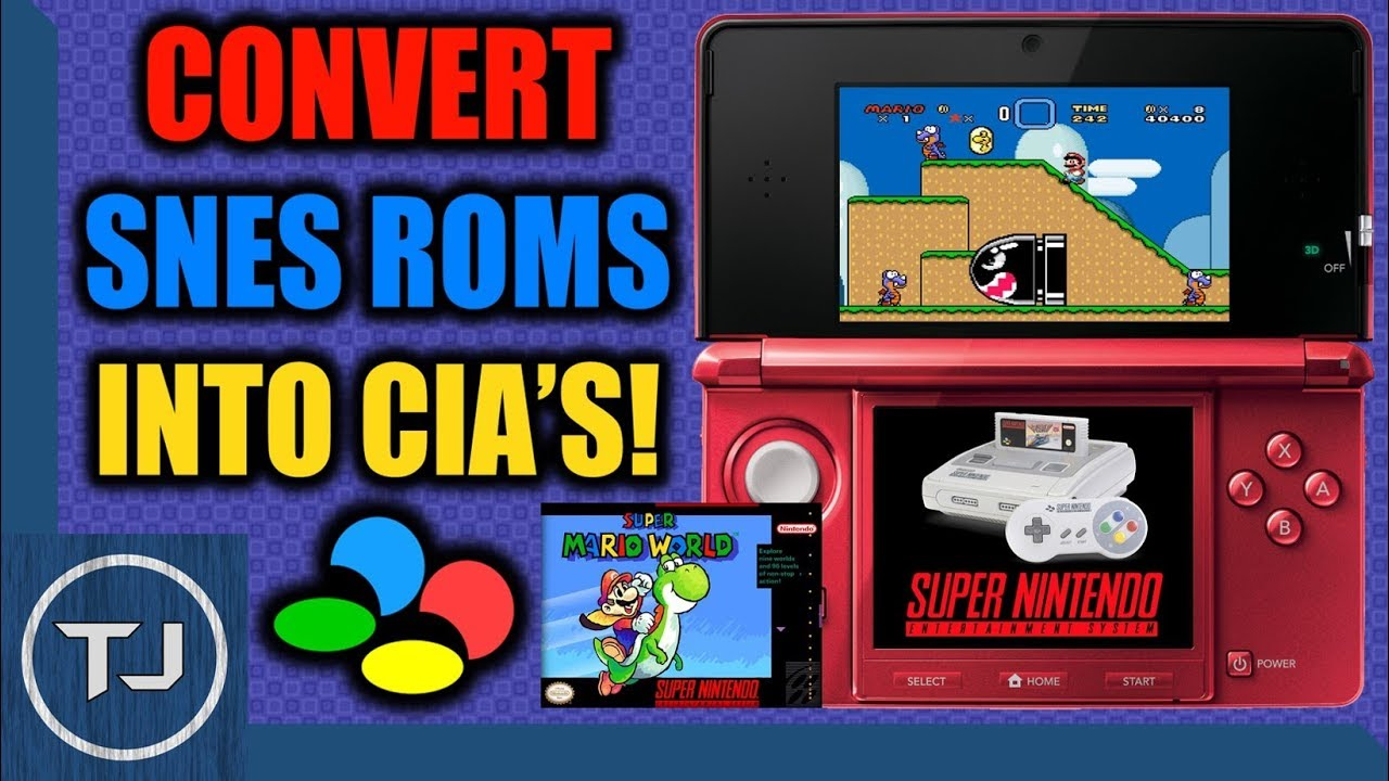 Video - Convert SNES ROM's Into CIA's & Install Them! (OLD