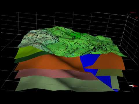 The 3D Geological Modelling of the GIS -131 is ready.