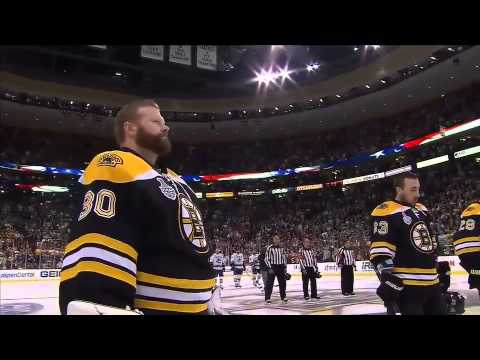 Rene Rancourt performs U.S. Anthem prior to Game 6 6/13/11