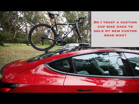 SeaSucker Bike Rack On Tesla Model 3