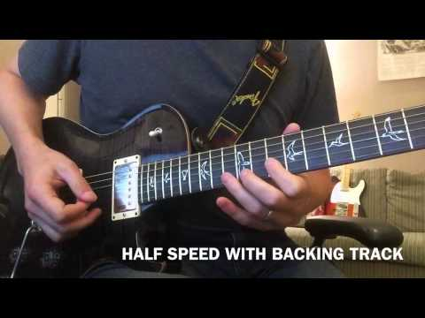 Sweet Child O Mine – Guitar Solo Lesson with Slow Motion Half Speed – Guns N' Roses
