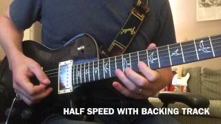 Sweet Child O Mine - Guitar Solo Lesson with Slow Motion Half Speed - Guns N