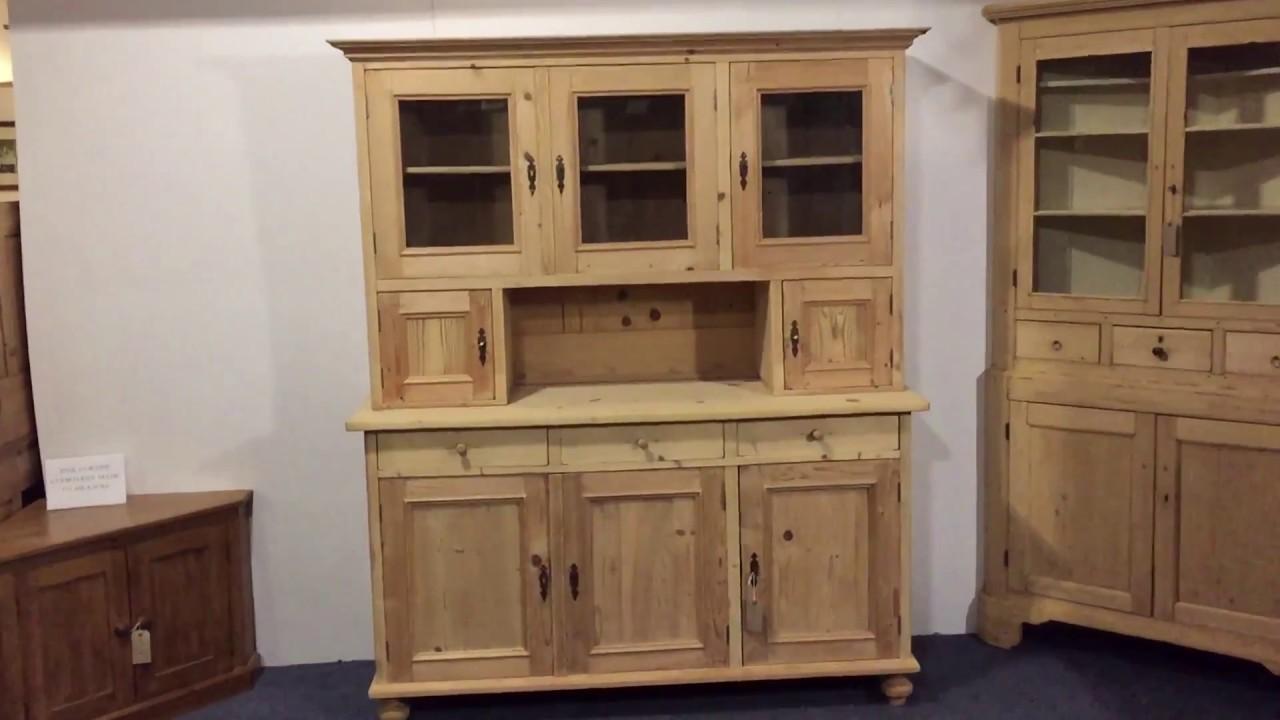 Large Three Door Antique Dresser   Pinefinders Old Pine Furniture Warehouse