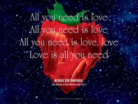 All You Need Is Love - Jim Sturgess and Dana Fuchs {Lyrics}