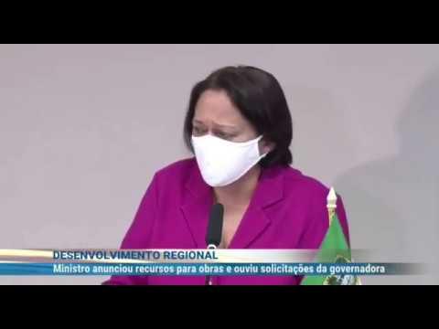 Fátima Bezerra recebe Rogério Marinho e manda abraço para Bolsonaro
