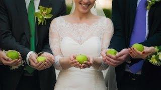 Яблочно-зеленая свадьба Романа и Ирины