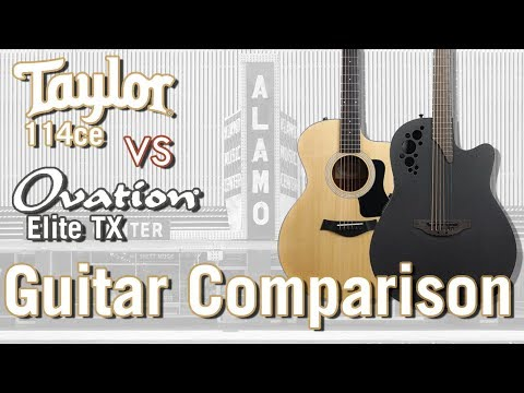 Taylor 114ce vs Ovation Elite TX - The Best Stage Ready Acoustic Guitars